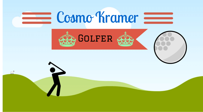 cosmo kramer golf cartoon image