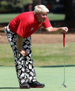 john daly on the golf course