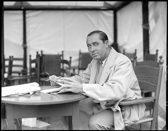 walter hagen sitting at table